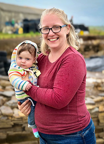 A very special visitor to site today was three-month-old Caitlyn, seen here with her mum, Sarah, a Ness veteran and Structure Ten supervisor.